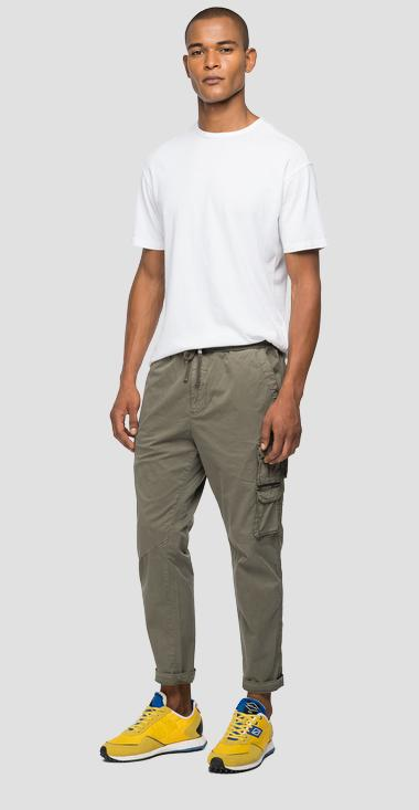 Regular fit trousers with drawstring - Replay M9751_000_84073G_439_1