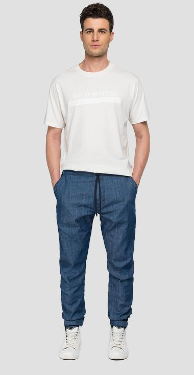 REPLAY SPORTLAB denim jogger pants with drawstring - Replay M9765E_000_S479-07_007_1