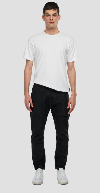REPLAY SPORTLAB jogger pants in cotton twill - Replay M9767_000_S84146_098_1