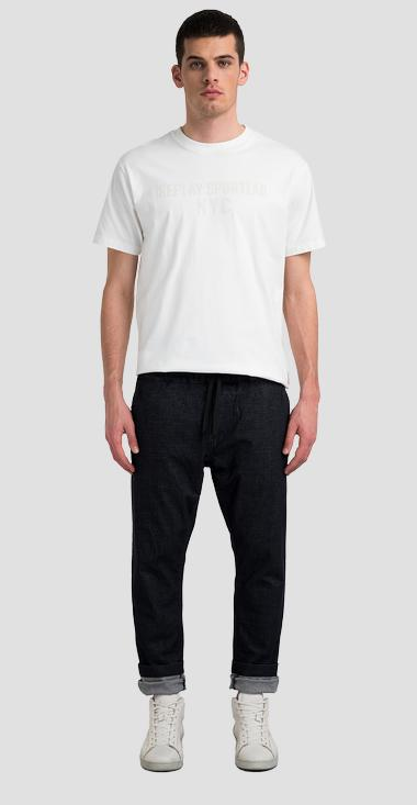 REPLAY SPORTLAB stretch jogger pants with denim effect - Replay M9795_000_S84219_498_1