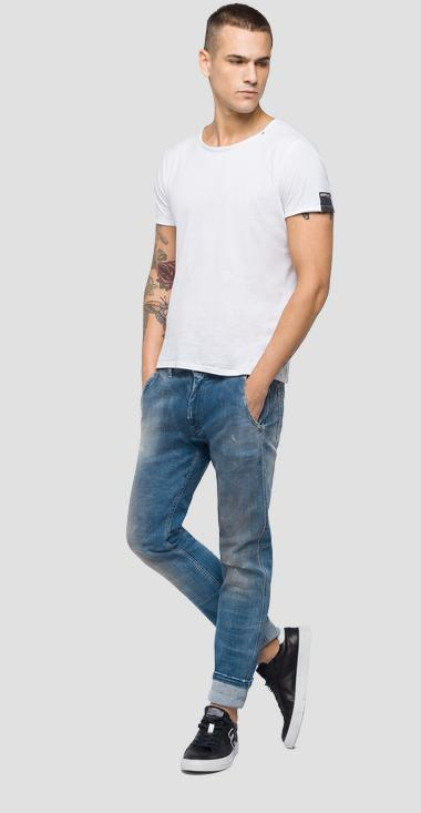 Five pockets chino fit Maycol jeans Aged 10 years - Replay MA908C_000_141-460_010_1