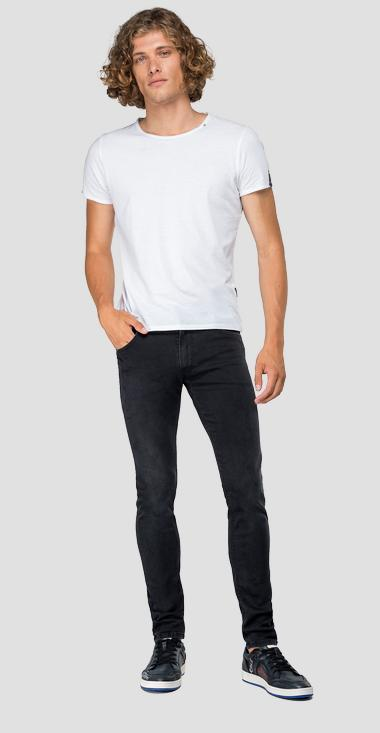 Skinny fit Hyperflex Jondrill jeans Clouds - Replay MA931_000_661-E01_098_1