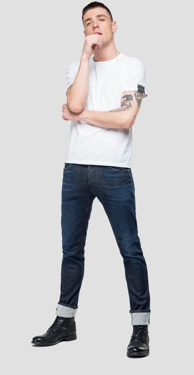 Skinny fit Hyperflex Jondrill jeans Clouds - Replay MA931_000_661-E03_007_1
