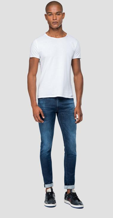 Skinny fit Hyperflex Jondrill jeans Clouds - Replay MA931_000_661-E05_007_1