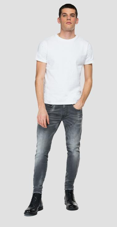 Jeans slim fit Hyperflex Re-Used White Shades Bronny - Replay MA934_000_661-WB1_096_1