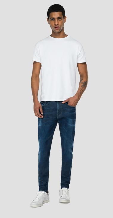 Slim fit Hyperflex Re-Used White Shades Bronny jeans - Replay MA934_000_661-WI2_007_1