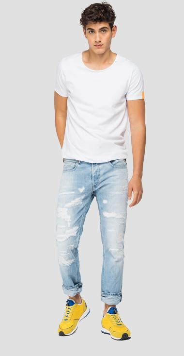 Straight fit Aged Eco 20 Year Organic Grover jeans - Replay MA972F_000_356850R_010_1