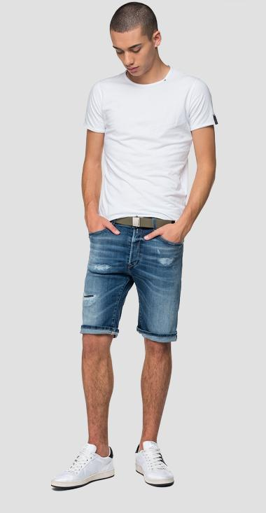Aged 10 years RBJ901 tapered fit bermuda shorts - Replay MA981B_000_141-640_009_1