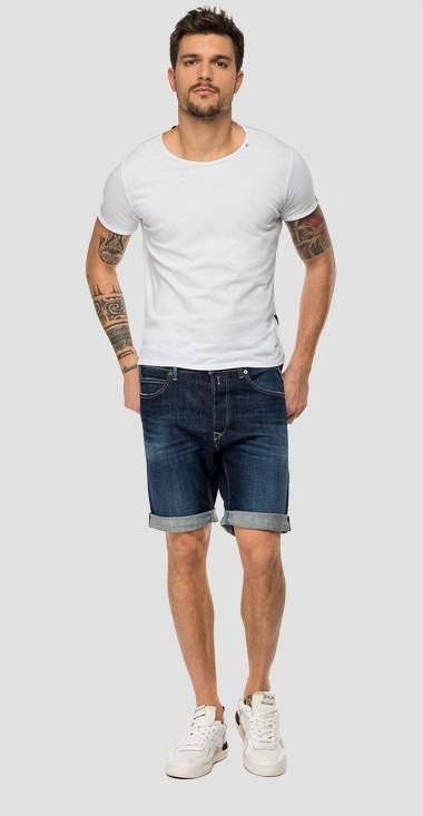 Tapered fit RBJ901 bermuda shorts - Replay MA981B_000_285-623_007_1