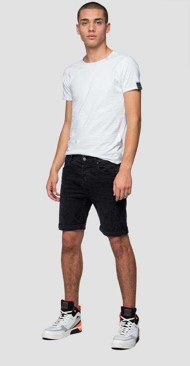 Tapered fit Hyperflex Clouds RBJ901 bermuda shorts - Replay MA981B_000_661-E01_098_1