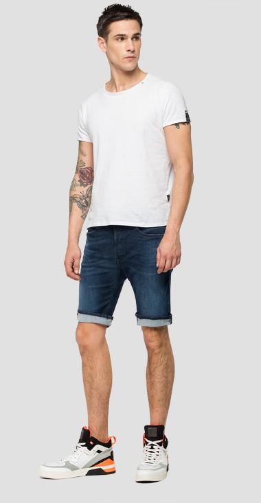 Tapered fit Hyperflex Clouds RBJ901 bermuda shorts - Replay MA981B_000_661-E05_007_1