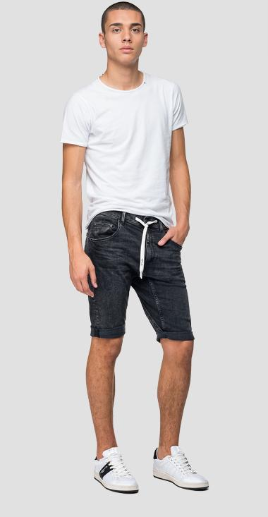 Djovic denim bermuda shorts with drawstring - Replay MA985E_000_271-688_097_1