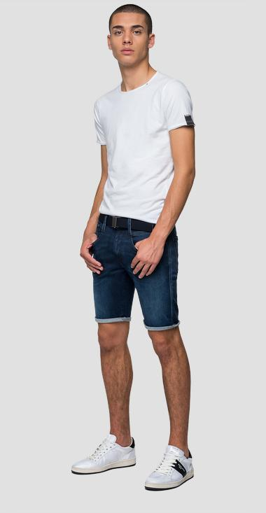 Slim fit Hyperflex Clouds Anbass bermuda shorts - Replay MA996_000_661-E05_007_1