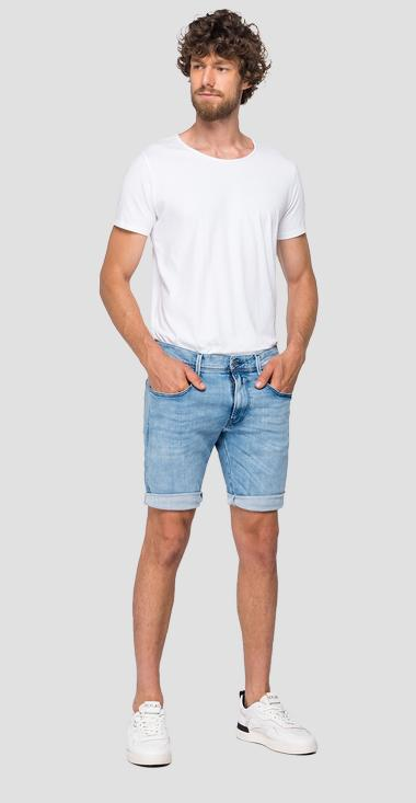Slim fit Hyperflex Clouds Anbass bermuda shorts - Replay MA996_000_661-E09_010_1