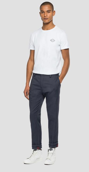 REPLAY AJAX TWILL CHINO TROUSERS - Replay MAX967_000_8091507_030_1