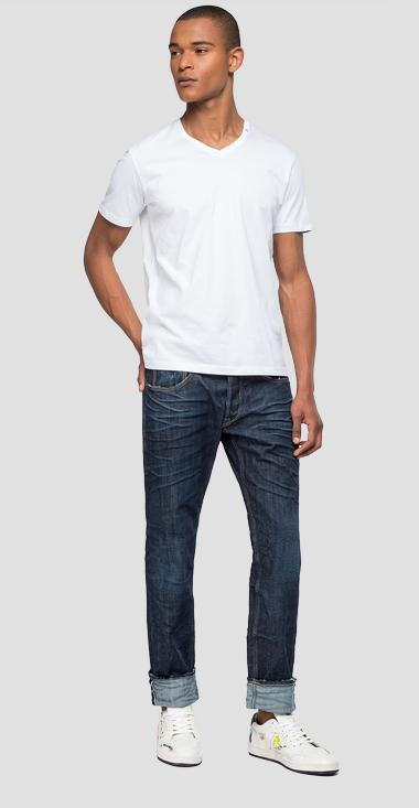 Slim fit Ronas Selvedge Stretch jeans - Replay MCA946_000_253-556_007_1