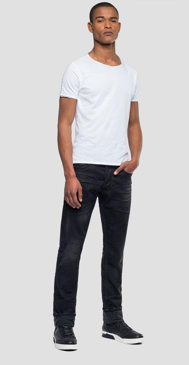 Straight fit Grover Selvedge Stretch jeans - Replay MCA972_000_109-554_098_1