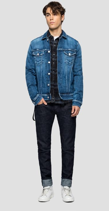 Regular fit jacket in Aged 5 years Sustainable denim - Replay MV842C_000_141-704_009_1