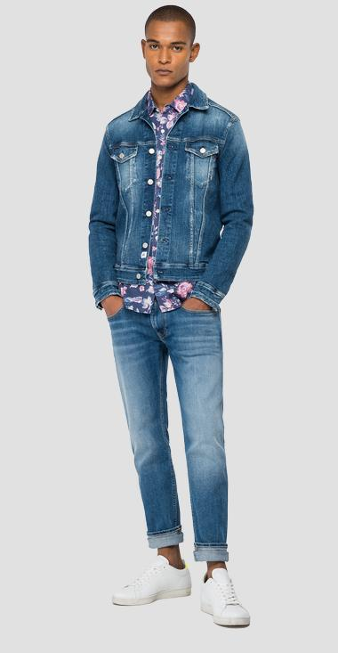 Jacket in denim Aged Eco 5 Years - Replay MV842J_000_141-832_009_1