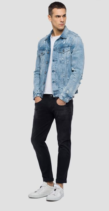 Regular fit jean jacket - Replay MV842Y_000_110-496_011_1