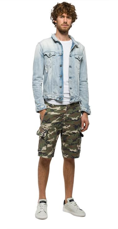 Distressed denim jacket - Replay MV842_000_419944S_011_1
