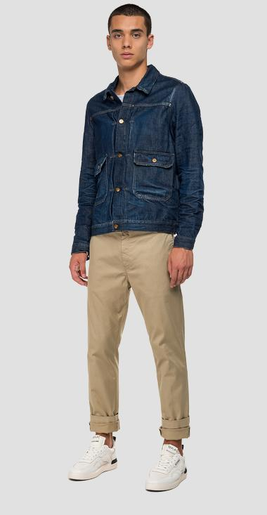 Tailored-style denim jacket - Replay MV860A_000_172-Z09_009_1