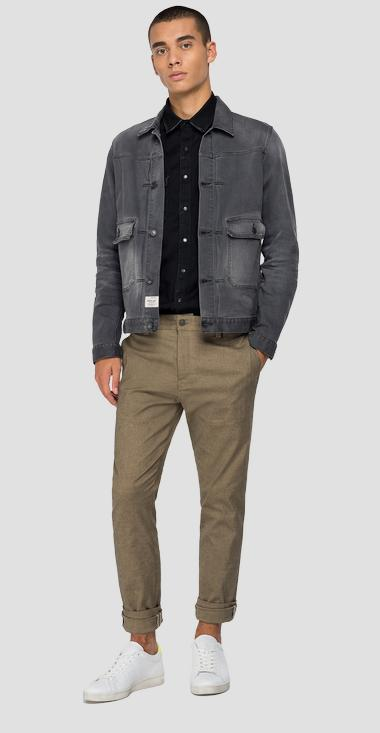 573 BIO tailored REPLAY denim jacket - Replay MV860_000_573BZ33_096_1