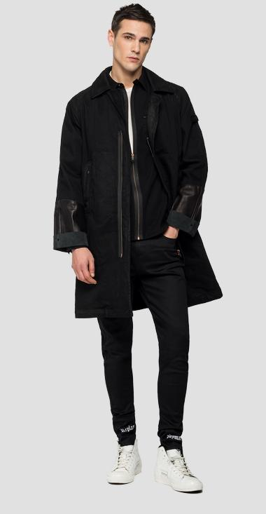 REPLAY NEYMAR NJR Capsule Collection denim and leather trench - Replay NJ8127_000_263NJ01_098_1