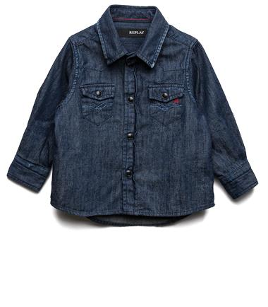 Boys' shirt with elbow patches- REPLAY&SONS PB1081_050_40A-293_001_1