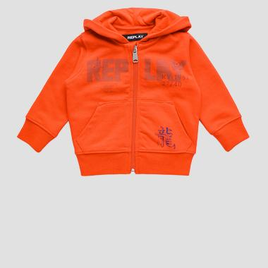 Hoodie with REPLAY print- REPLAY&SONS PB2440_052_22739_559_1