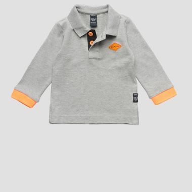 Long-sleeved polo t-shirt- REPLAY&SONS PB7014_050_20623_M15_1