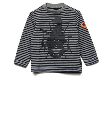 Boys' striped T-shirt with print- REPLAY&SONS PB7016_060_20886_857_1