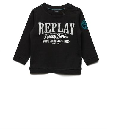 Boys' printed jersey T-shirt- REPLAY&SONS PB7060_061_2660_099_1
