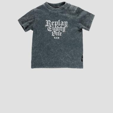 Crewneck t-shirt with print- REPLAY&SONS PB7301_064_22658G_596_1