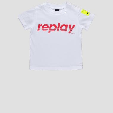 Jersey t-shirt with print- REPLAY&SONS PB7308_076_20994_002_1