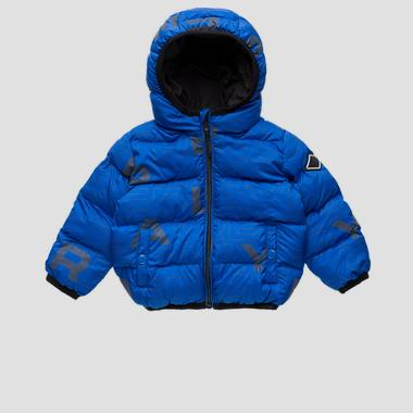 Padded jacket with REPLAY print- REPLAY&SONS PB8192_050_83798KC_185_1