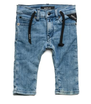 Boys' denim fleece trousers- REPLAY&SONS PB9007_051_2172027_010_1