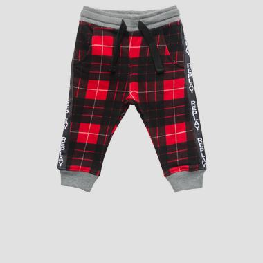 Checked fleece trousers- REPLAY&SONS PB9010_050_20372KI_010_1