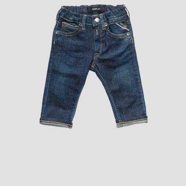 Jeans with elasticated waistband- REPLAY&SONS PB9014_050_115-812_001_1