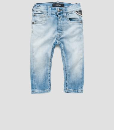 Boys' faded slim-fit jeans- REPLAY&SONS PB9018_080_39C-360_001_1