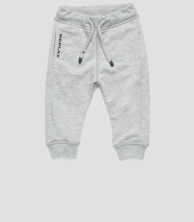 Boys' drawstring sweatpants- REPLAY&SONS PB9140_054_22739_M04_1
