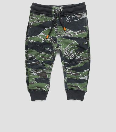 Boys' camouflage sweatpants- REPLAY&SONS PB9337_050_22739L_011_1