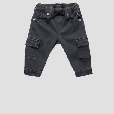 Cargo pants in cotone- REPLAY&SONS PB9393_050_2164942_099_1