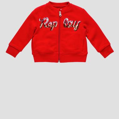Replay sweatshirt with zipper and sequins- REPLAY&SONS PG2335_051_22852_814_1