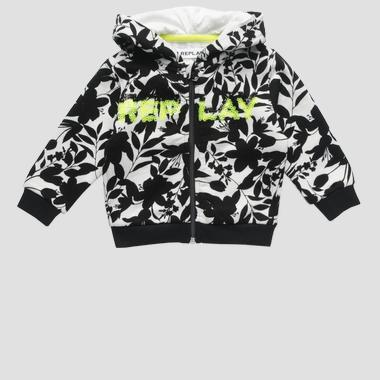Sweatshirt with print and sequins- REPLAY&SONS PG2416_050_22072KA_010_1