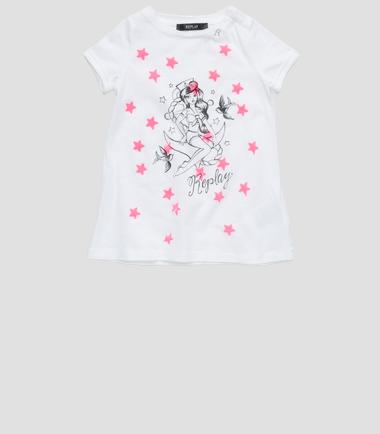 Girls' dress with oversized print- REPLAY&SONS PG3049_053_20994_001_1