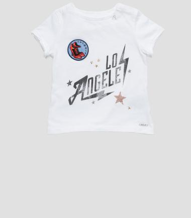 Girls' LOS ANGELES print T-shirt- REPLAY&SONS PG7406_058_20994_001_1