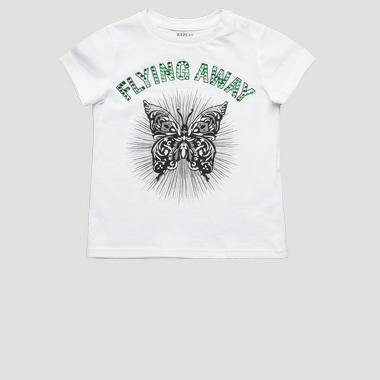T-shirt with rhinestones- REPLAY&SONS PG7472_053_20994_001_1