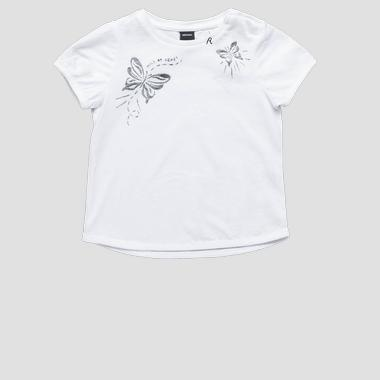 T-shirt with butterflies print- REPLAY&SONS PG7481_050_22536P_001_1