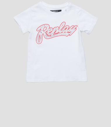 Girls' REPLAY print T-shirt- REPLAY&SONS PG7491_054_20994_001_1